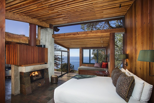 At Big Sur's Post Ranch Inn, luxury guest rooms boast either ocean or mountain views.