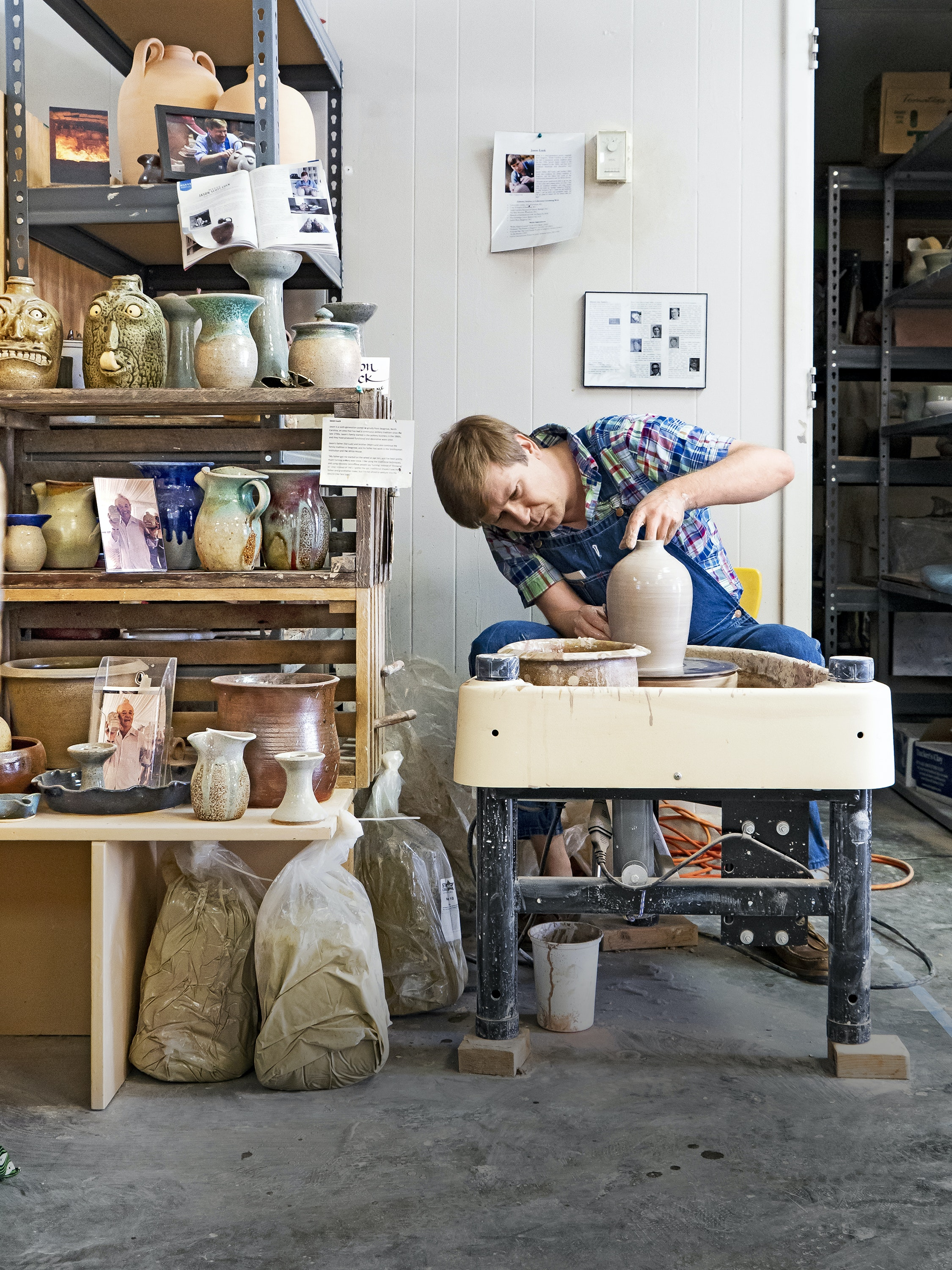 Cone 10 Studios sells pottery made by local ceramists and offers workshops throughout the year.