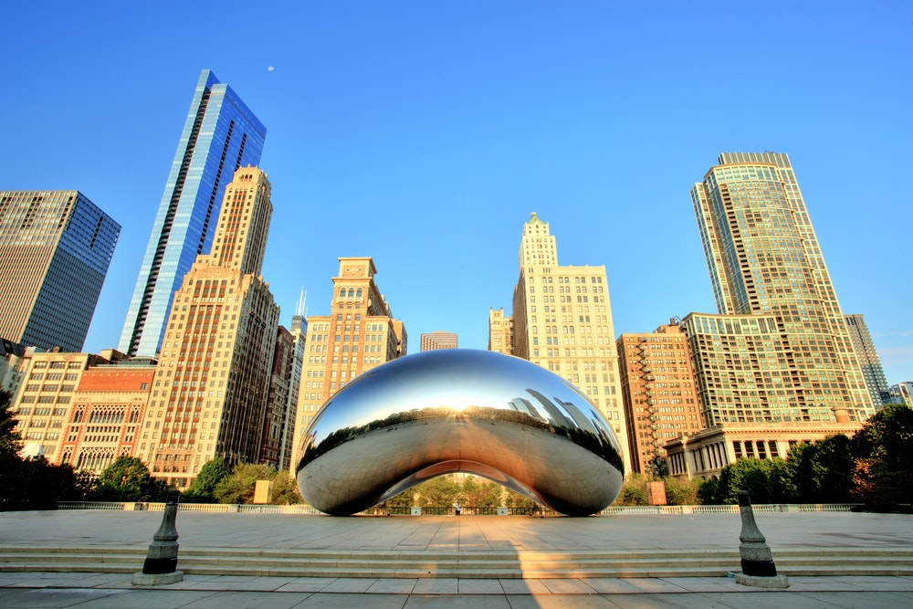 """Cloud Gate"" by Sir Anish Kapoor has become an iconic Chicago art installation, earning the nickname ""The Bean."""