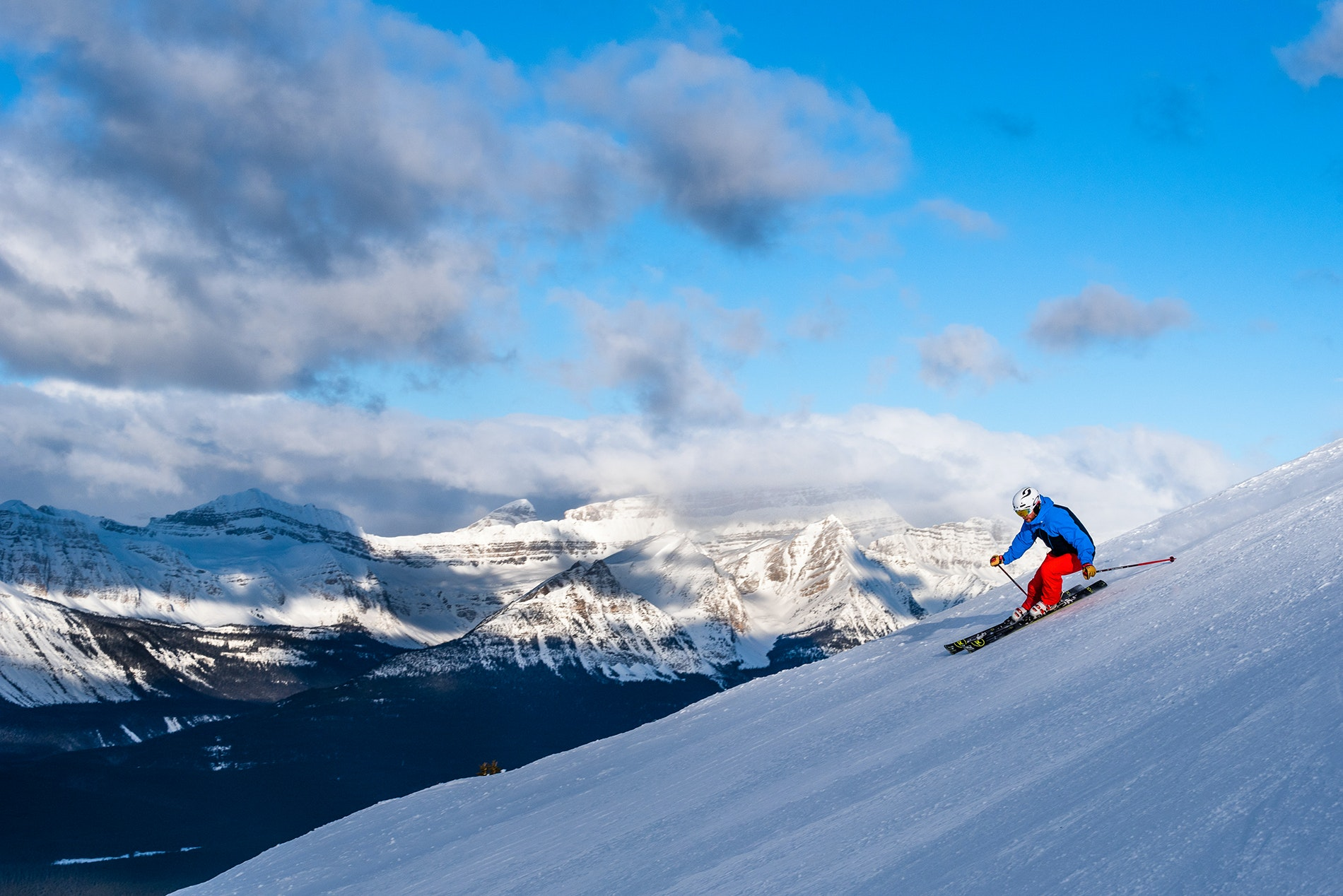 Novice and veteran skiers alike can find slopes in Banff, Canada.