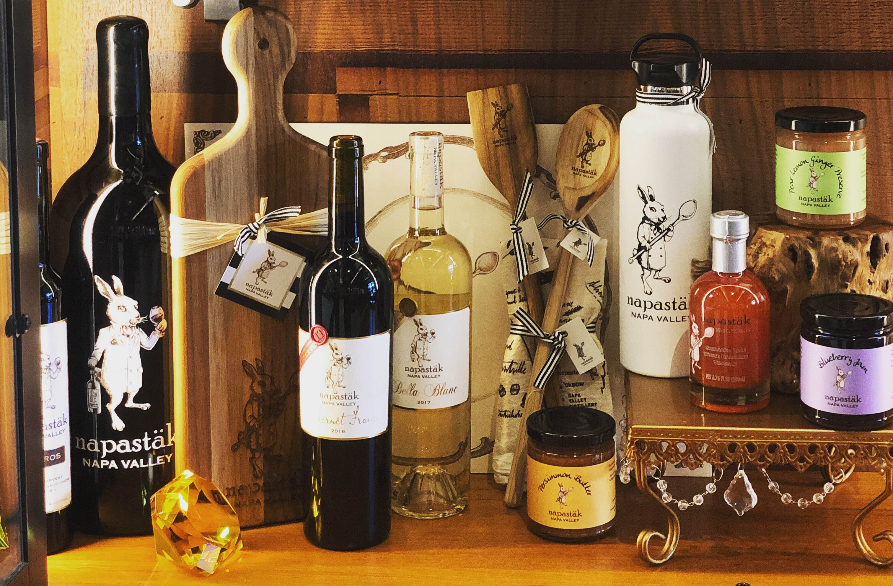 One of the best places to find an array of food- and wine-related Napa Valley souvenirs is at Napastäk, now with its own brick-and-mortar boutique.