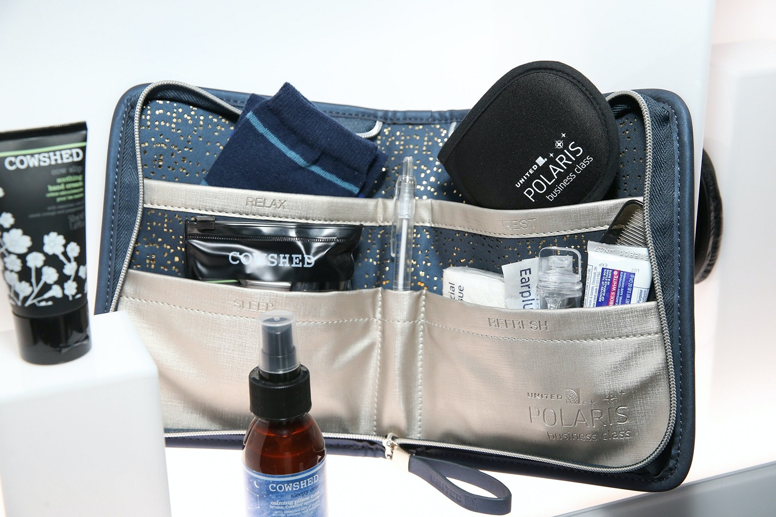United's first-class amenity kit