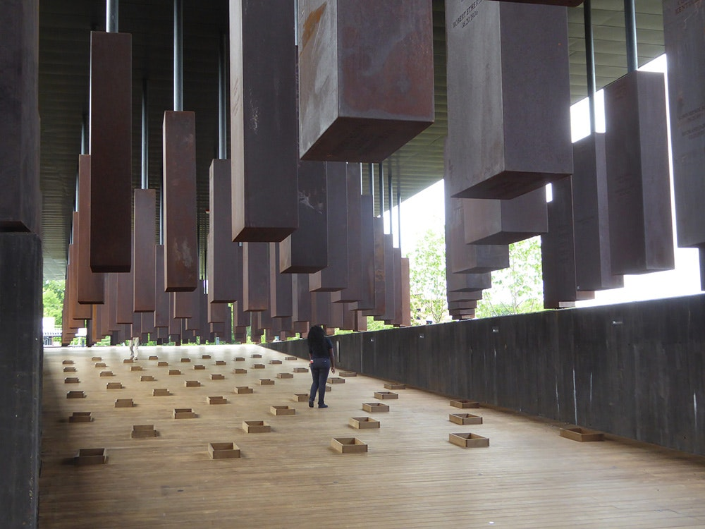 The memorial's designers were inspired by the Holocaust Memorial in Berlin and the Apartheid Museum in Johannesburg.
