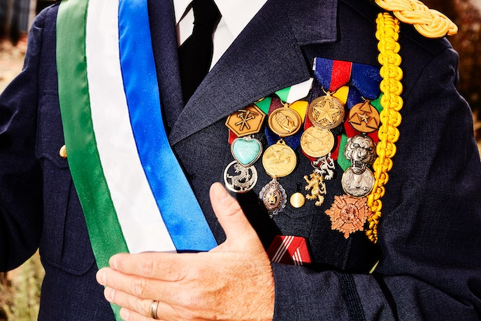 President Baugh suspects that he'll soon need a separate jacket to display all his medals.