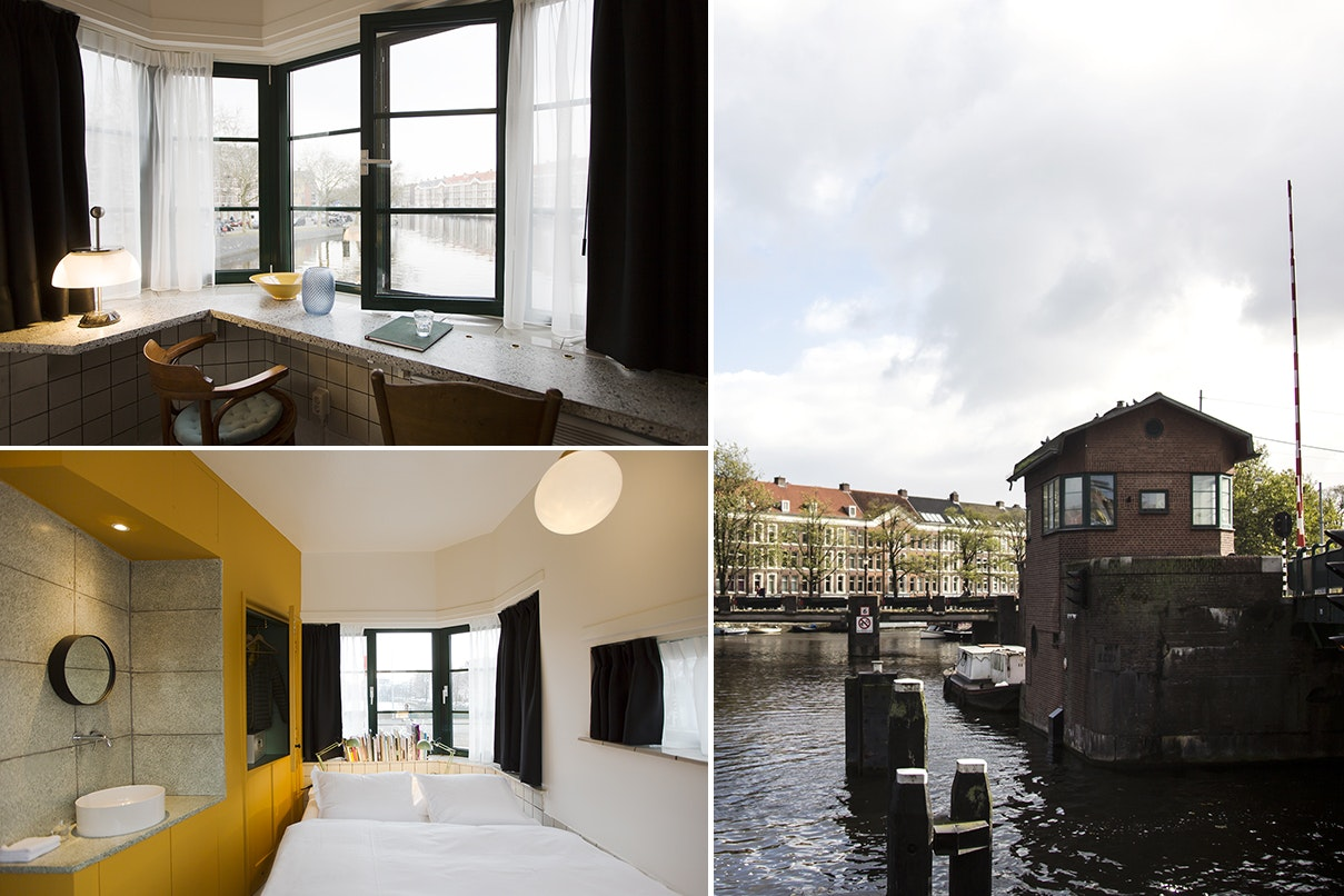 """The Kattenslootbrug bridge house is an example of late """"Amsterdam School"""" architecture."""
