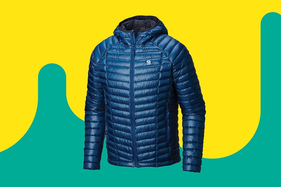 Mountain Hardwear's Ghost Whisperer Down Hooded Jacket can zip into its own pocket and is thin for layering.