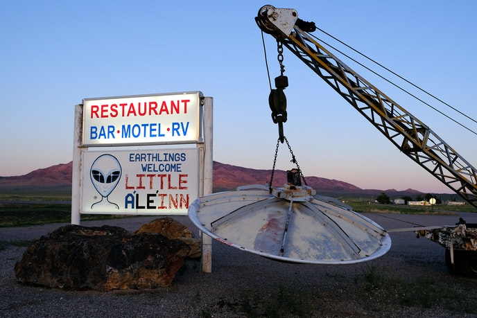 Rachel, Nevada's Little A'Le'Inn is the closest hotel and restaurant to Area 51.