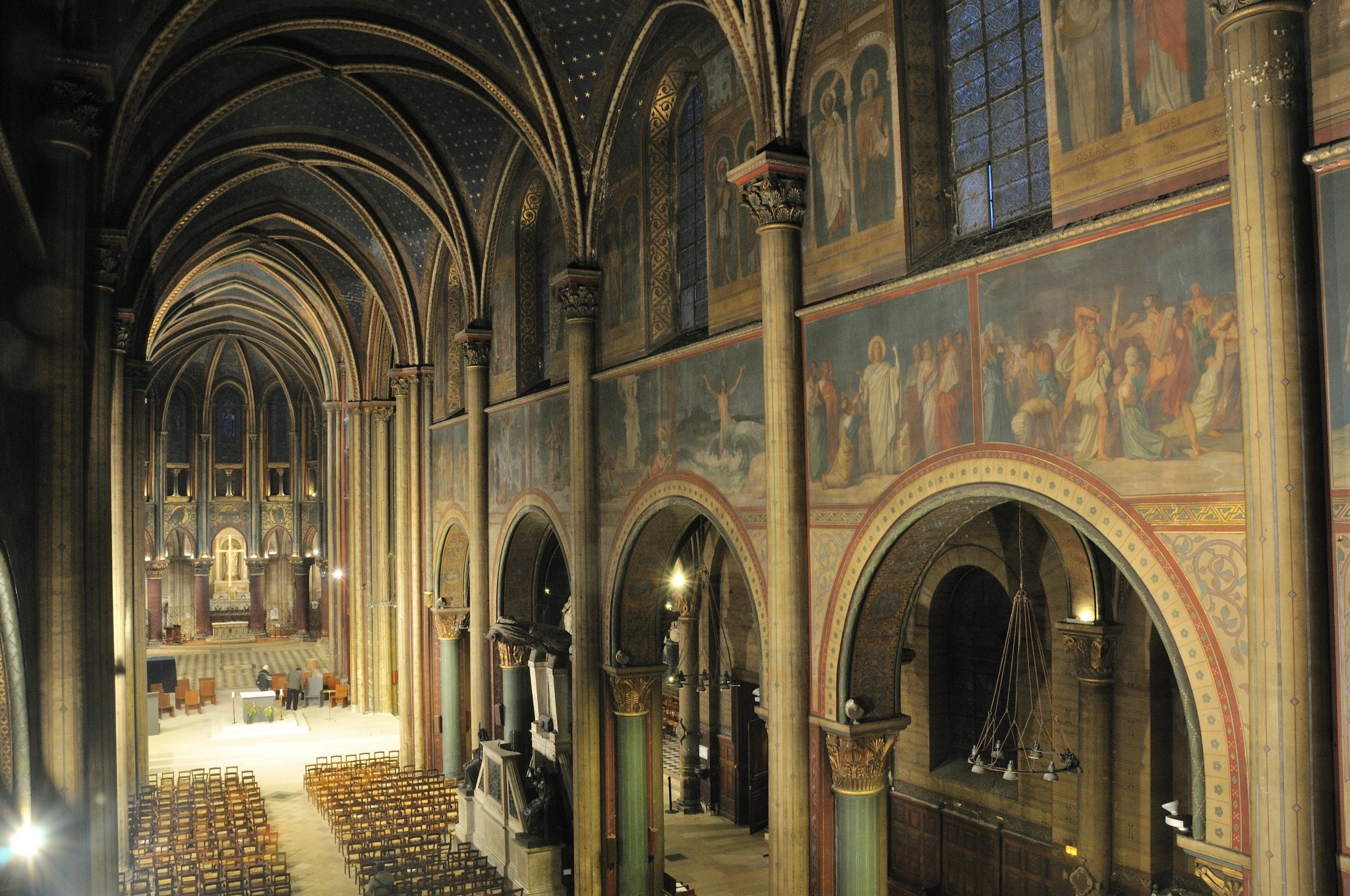 One of the goals of the restoration project is to brighten the church's murals, dimmed over 1,000 years.
