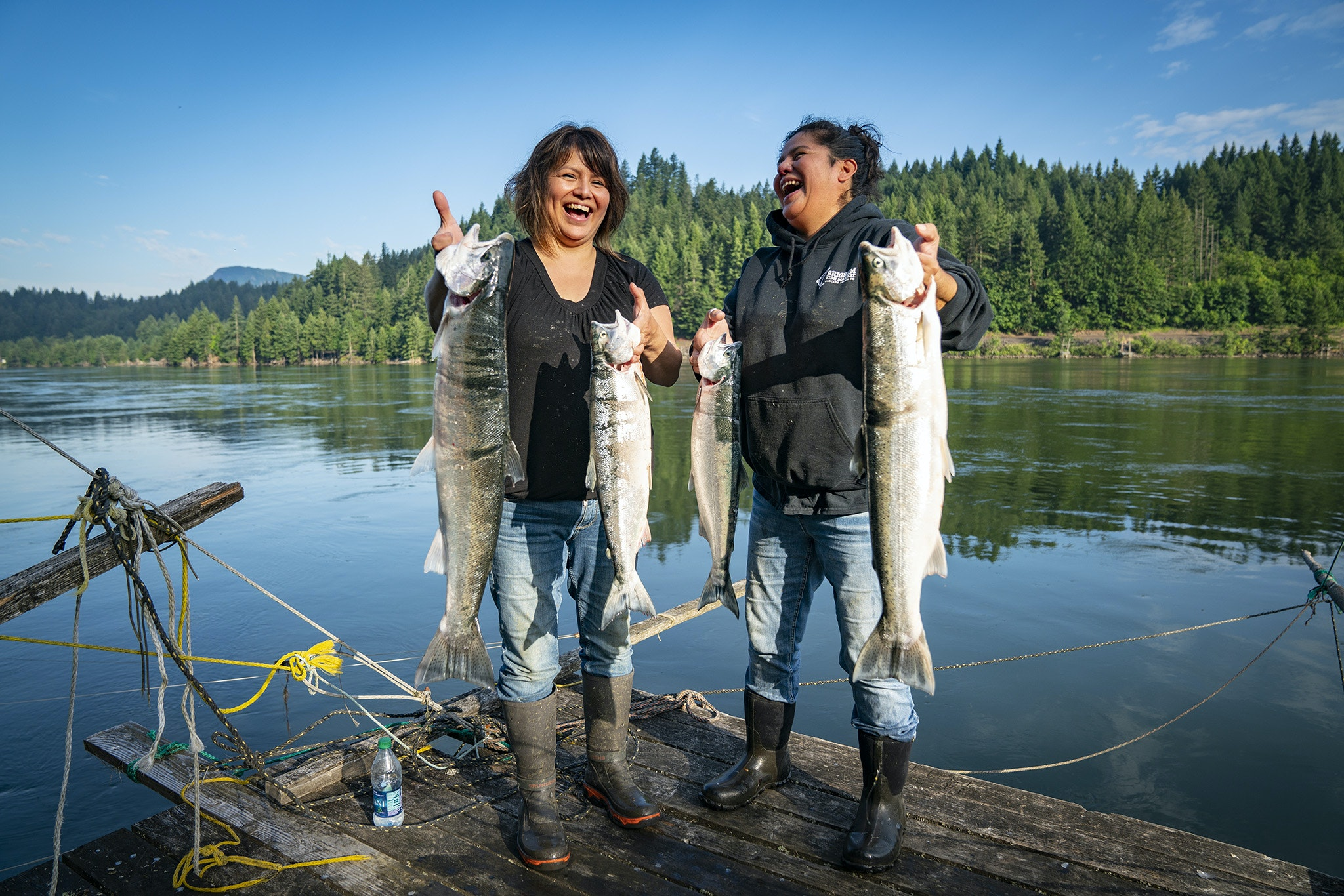 Every morning, sisters Kim and Terrie Brigham fish for the food they serve at their restaurant, Brigham Fish Market.
