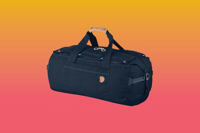 The Duffel No. 6 Small by Fjällräven is sold in black and navy.