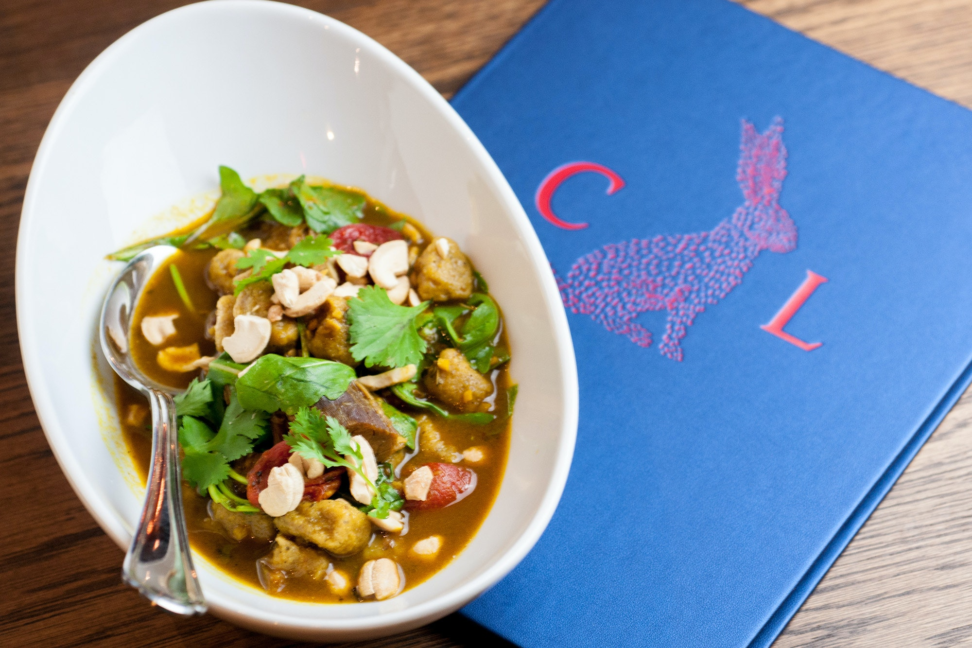 The curried goat and sweet plantain gnocchi at Compère Lapin