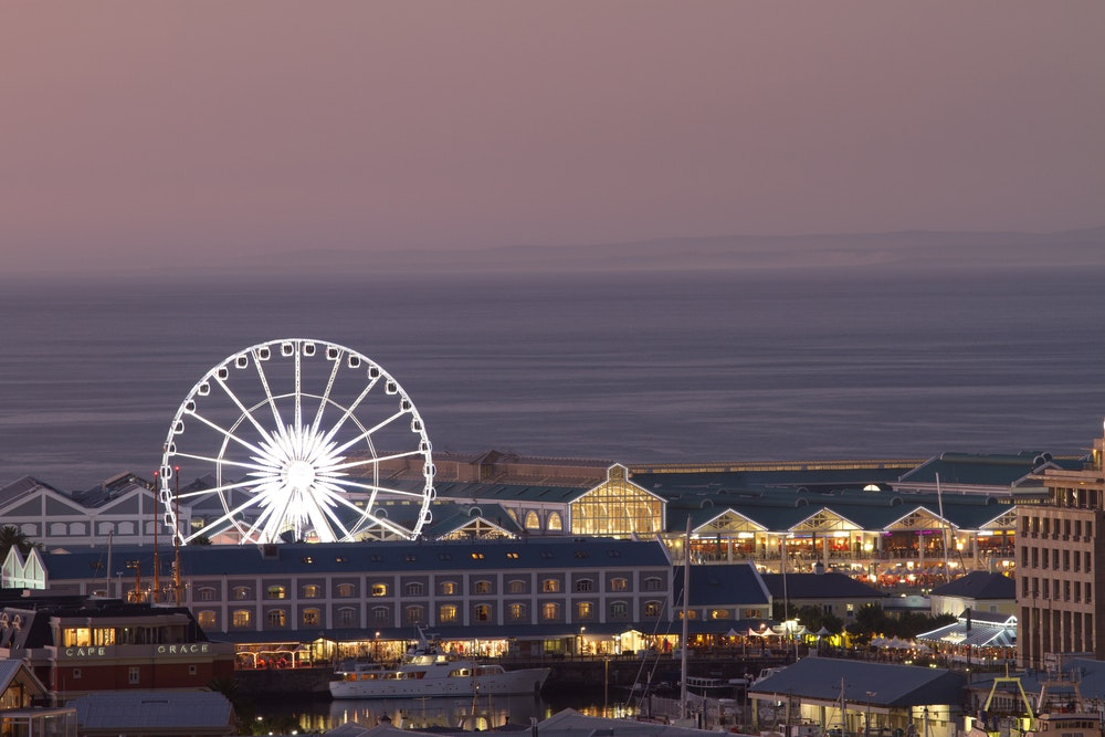 Find galleries, restaurants, and a Ferris wheel at the V&A Waterfront.