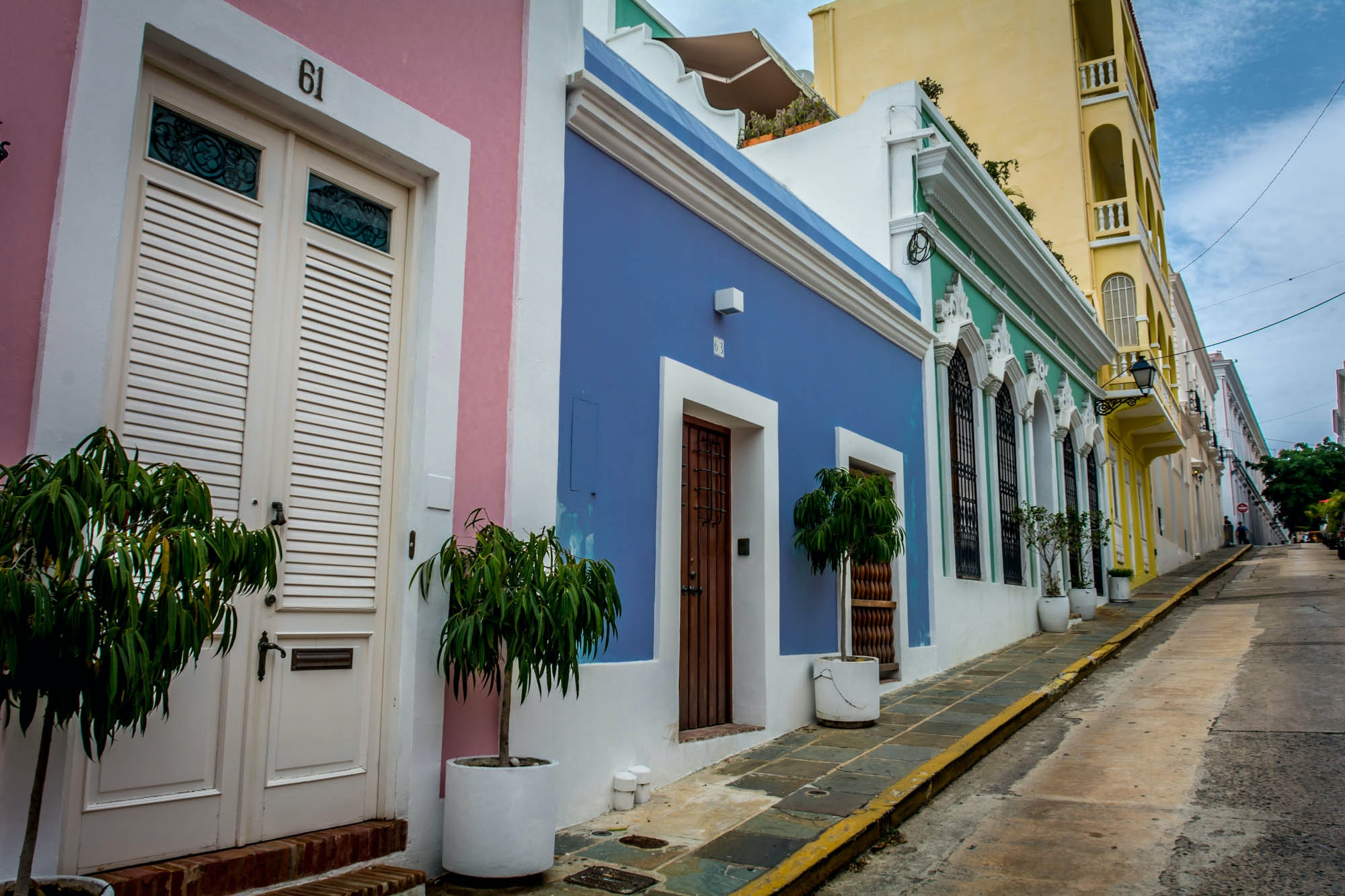 Old Town San Juan is ready to receive some visitors.