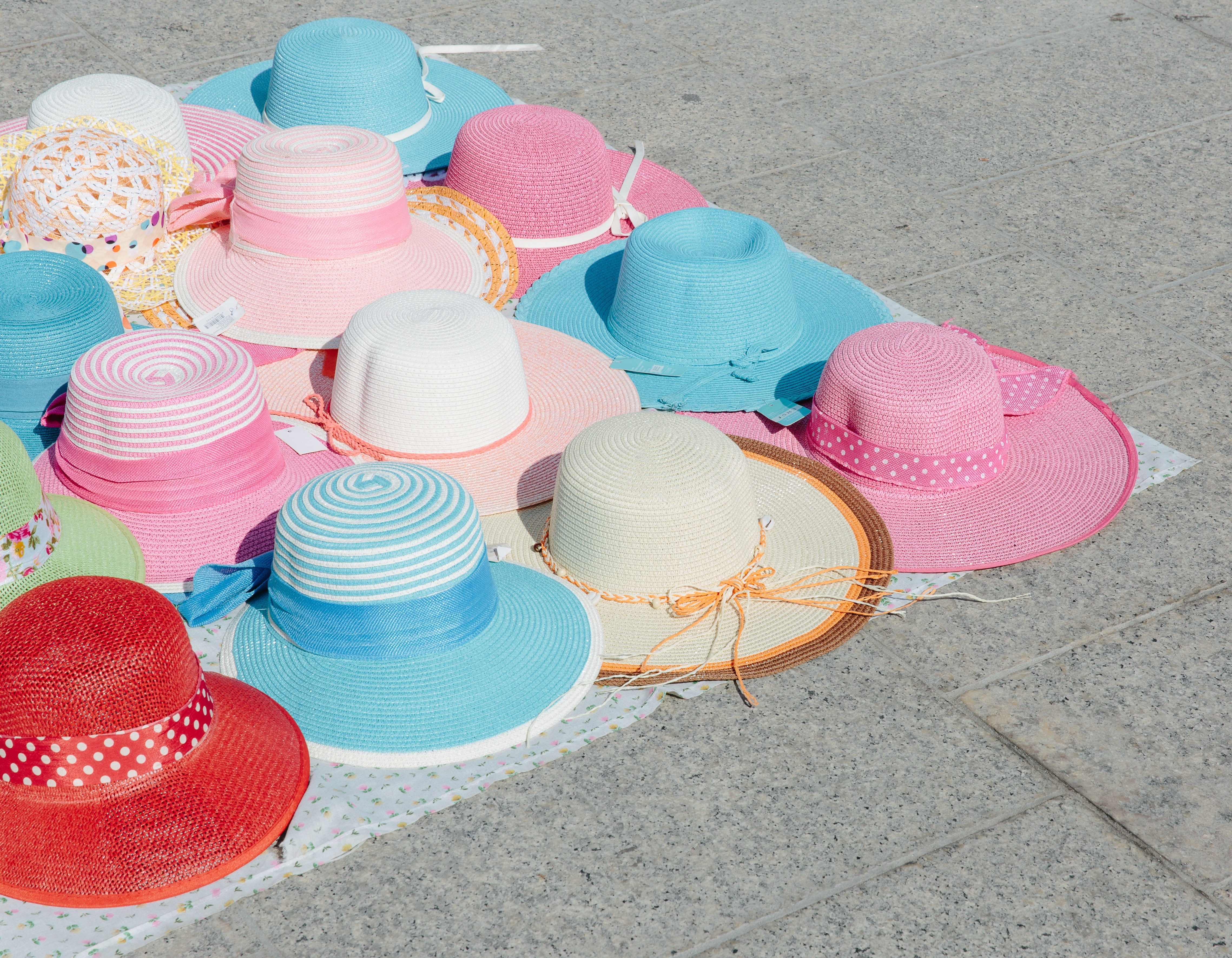 Hats for sale in Sardinia