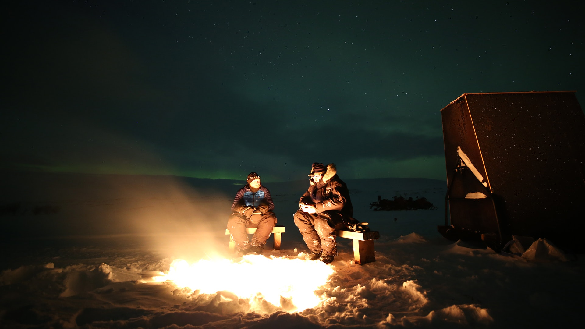 Kick off an evening of aurora viewing with reindeer sausage.