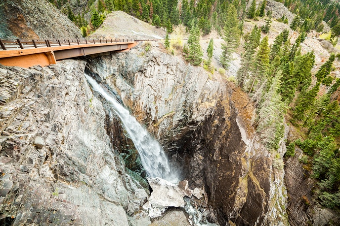 """Ouray is known as the """"Switzerland of America"""" for its deep canyons and many waterfalls."""