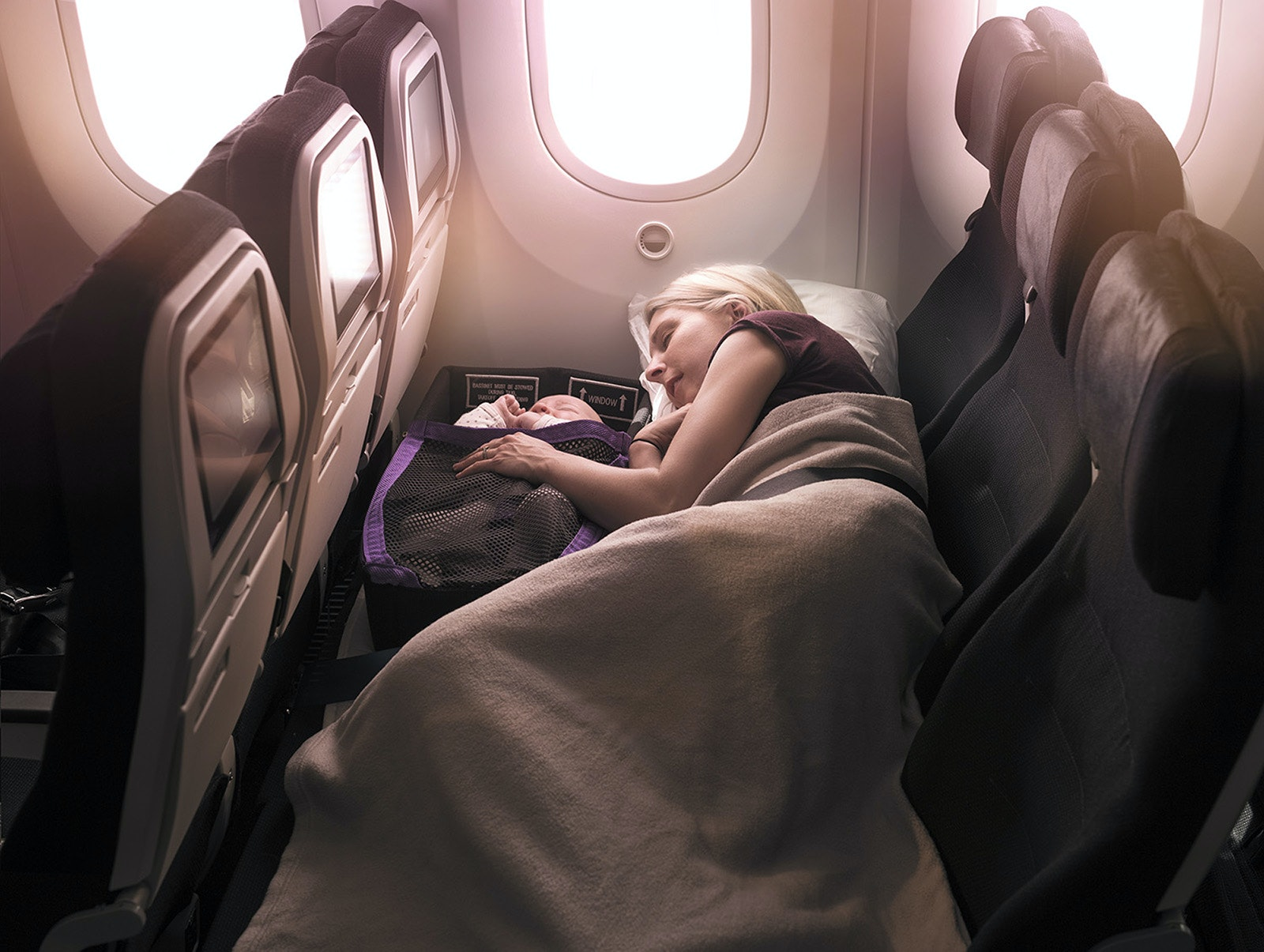 """Air New Zealand introduced its """"Skycouch"""" configuration in economy class, which is now being copied by airlines like Joon."""