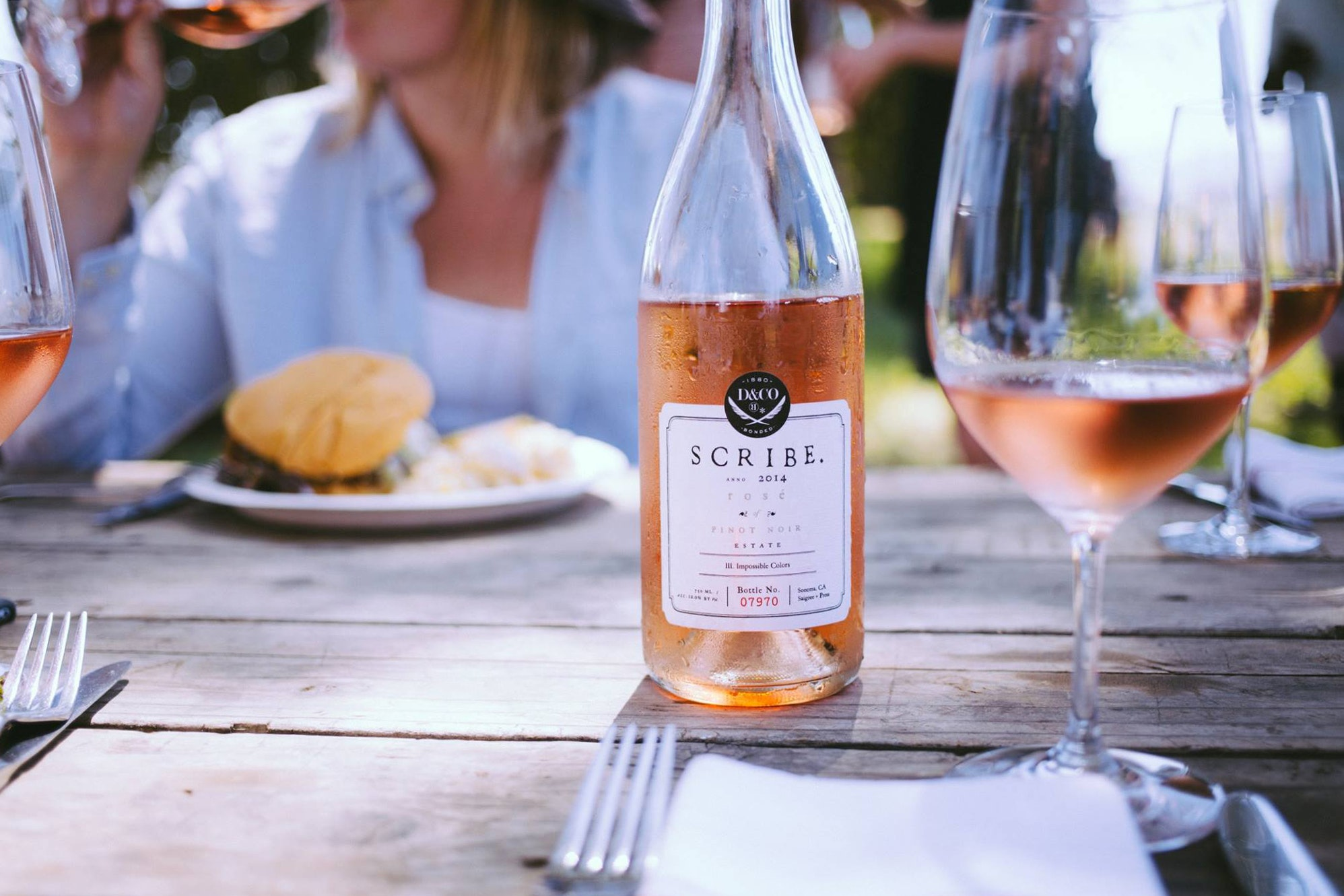 Find Scribe's 2016 Rosé of Pinot Noir (2014 pictured here) in Sonoma, CA.