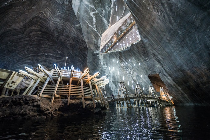 Once a salt mine during the Middle Ages, Salina Turda has since been converted into an underground theme park.
