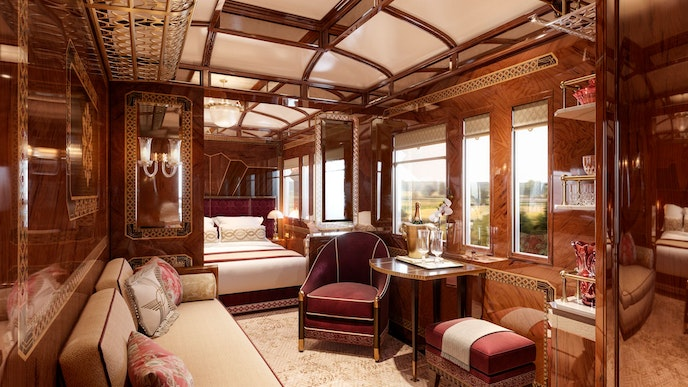 In addition to its finer touches, the Grand Suite Prague comes with unlimited champagne.