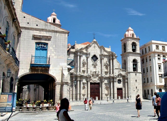 Havana's cathedral is considered one of the best representatives of baroque architecture on the island.
