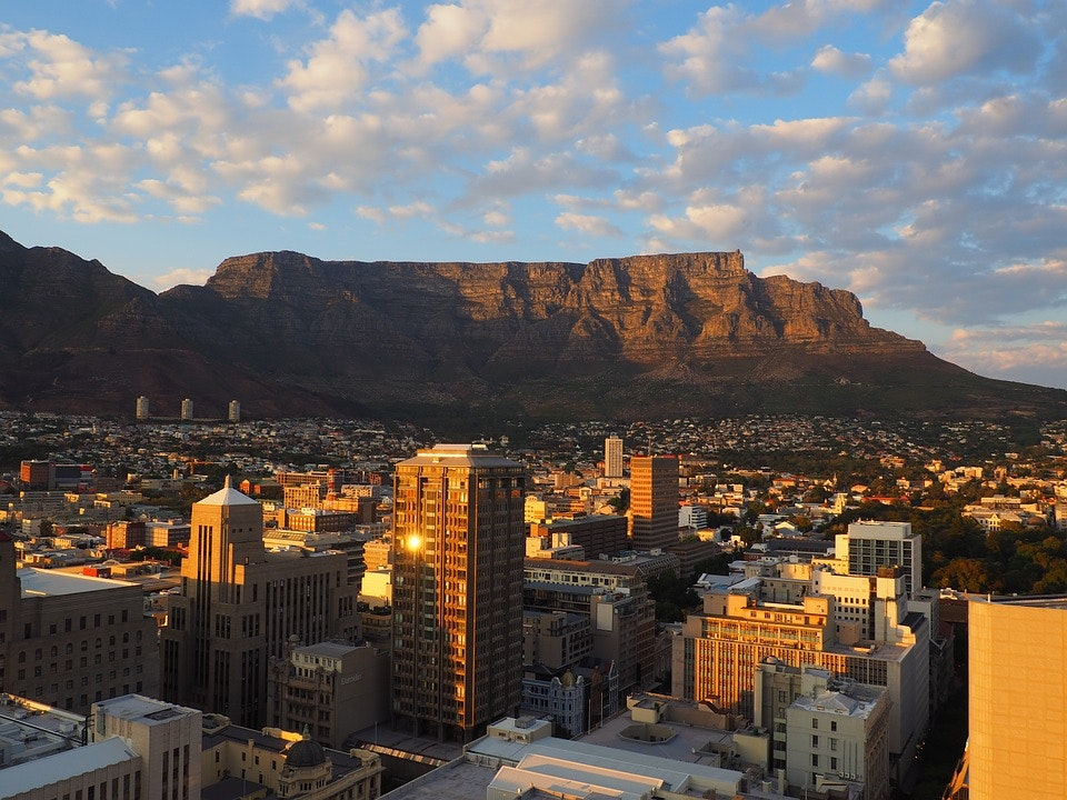 A view of Cape Town's Table Mountain