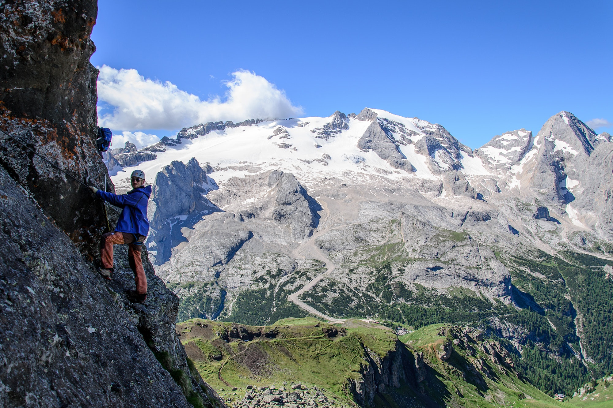 The Via Ferrata delle Trincee is known for its impressive vistas.