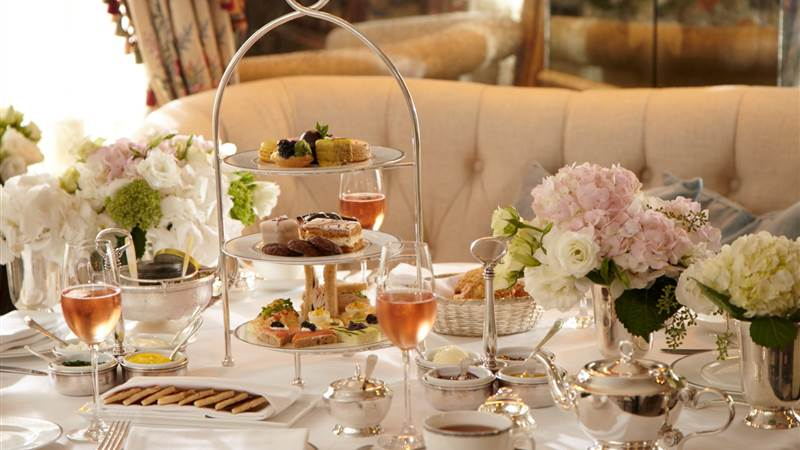 The spread for high tea at The Pembroke Room is fit for an aristocrat.