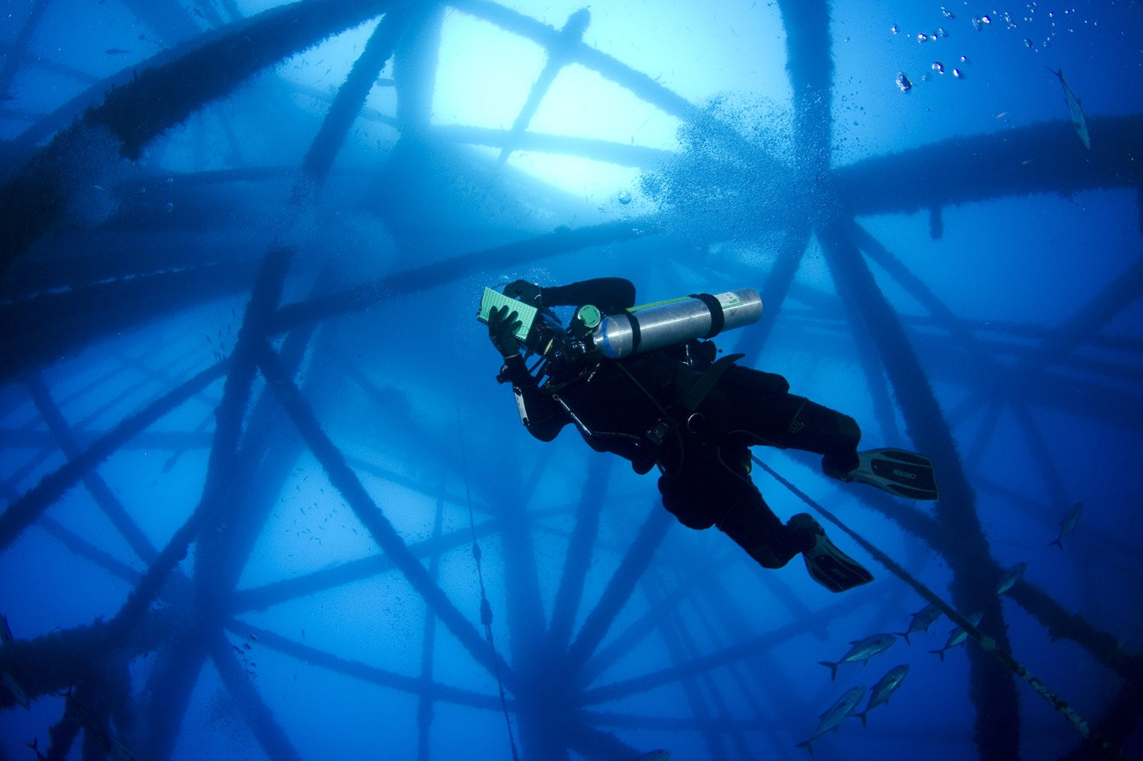 Platform HI-A-389 will be officially turned into an artificial reef this summer.