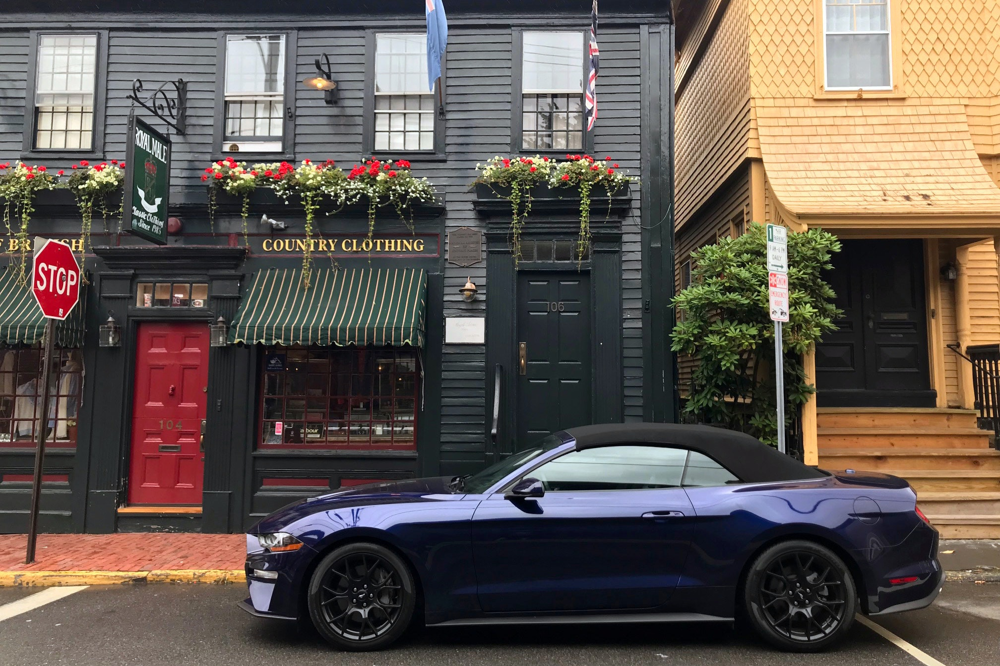 Exploring Newport in a 2018 Ford Mustang