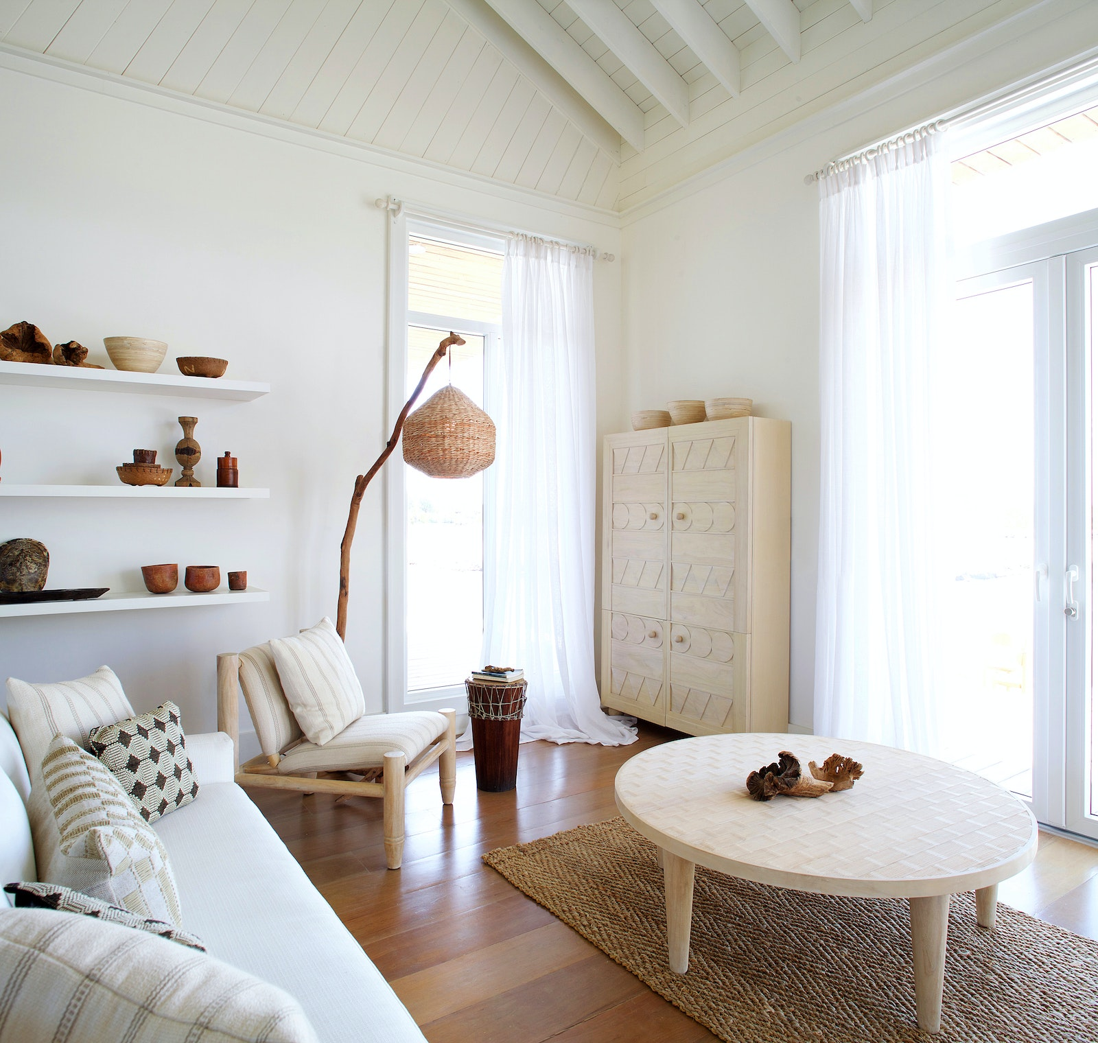 The interior of one of Itz'ana's carbon-neutral villas