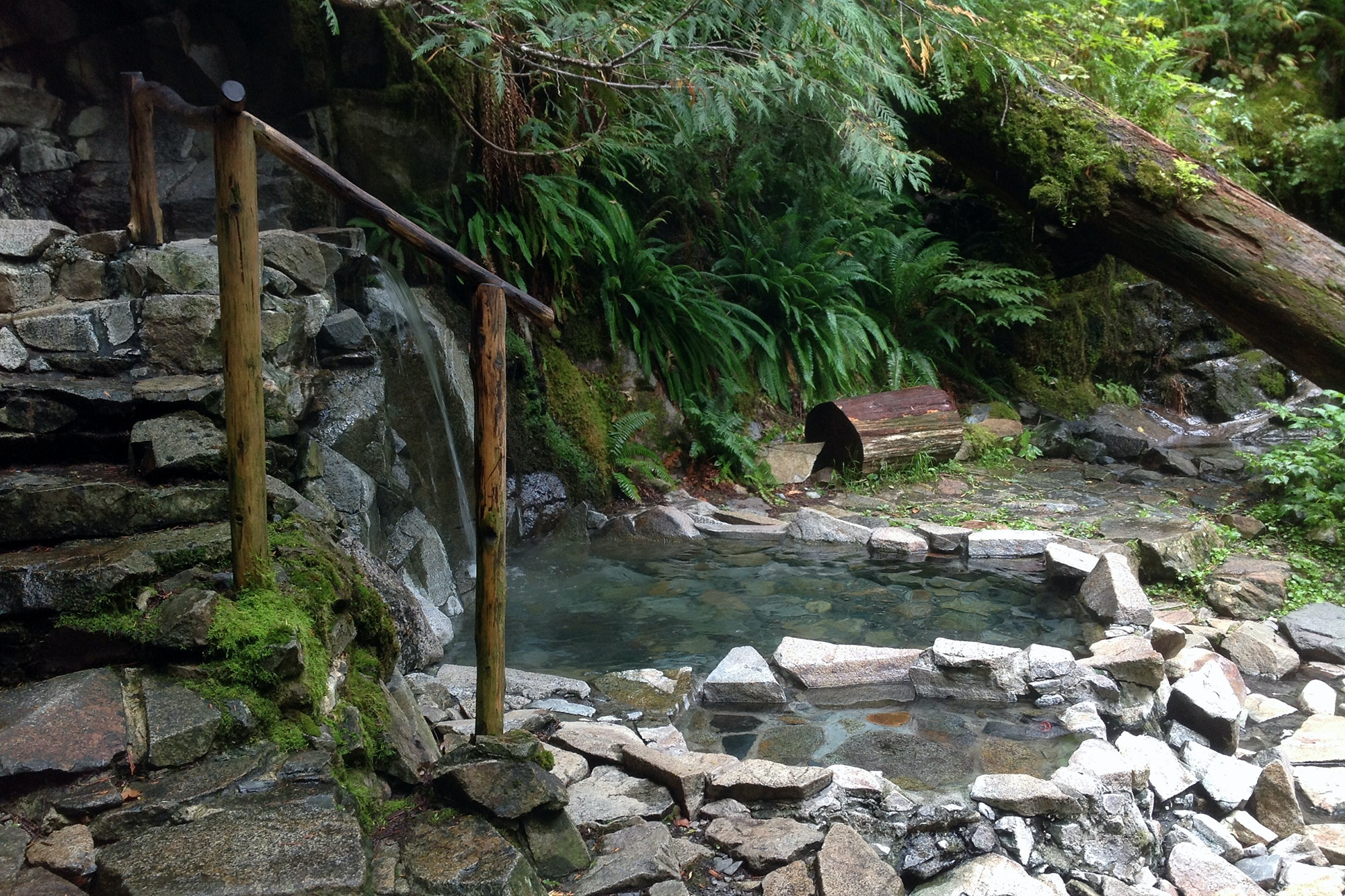 Goldmyer Hot Springs once served as a retreat for loggers and miners.