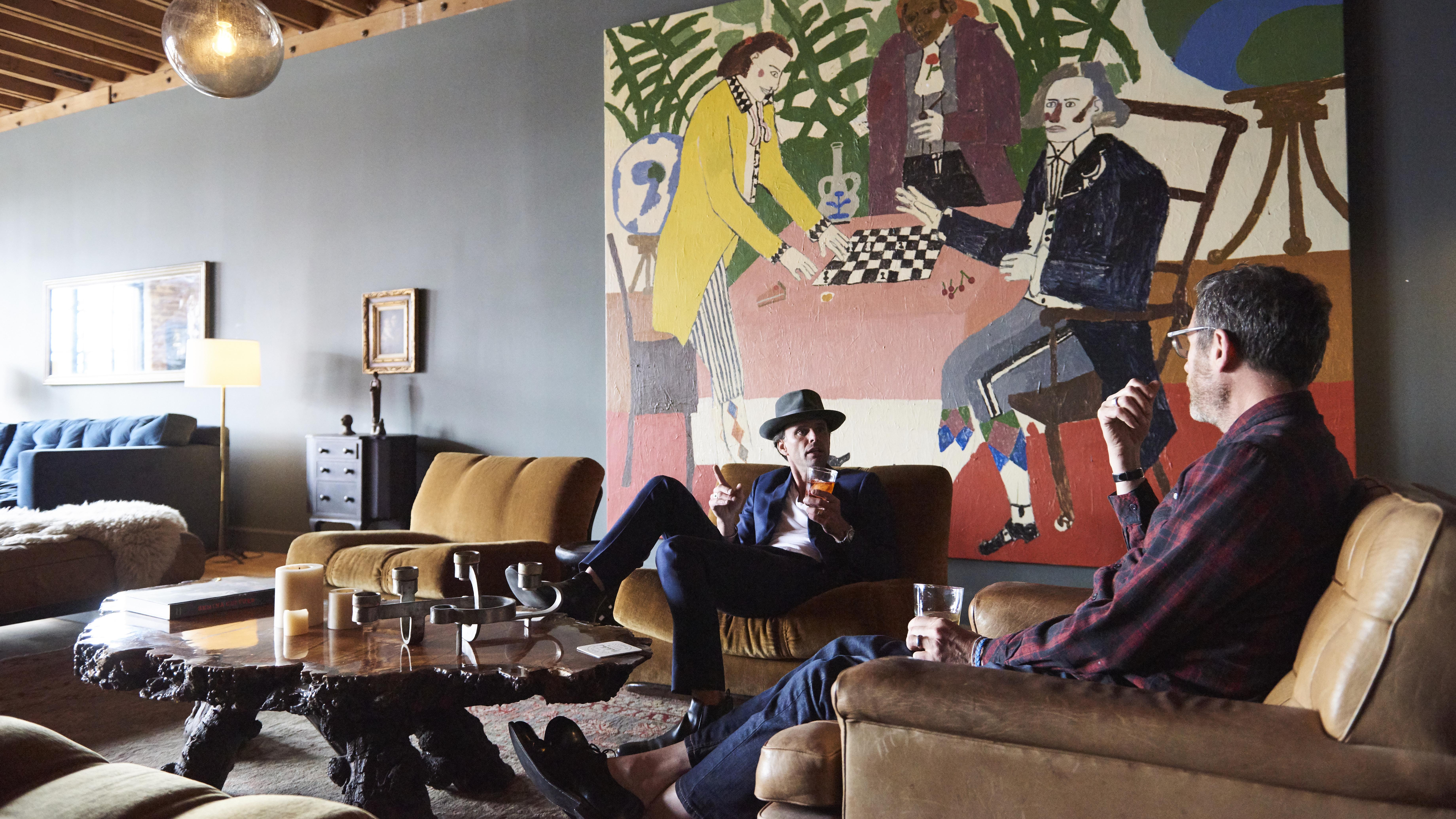 Kicking back with Walton Goggins in the Mullholland Room might be the best way to end a Route 66 road trip.