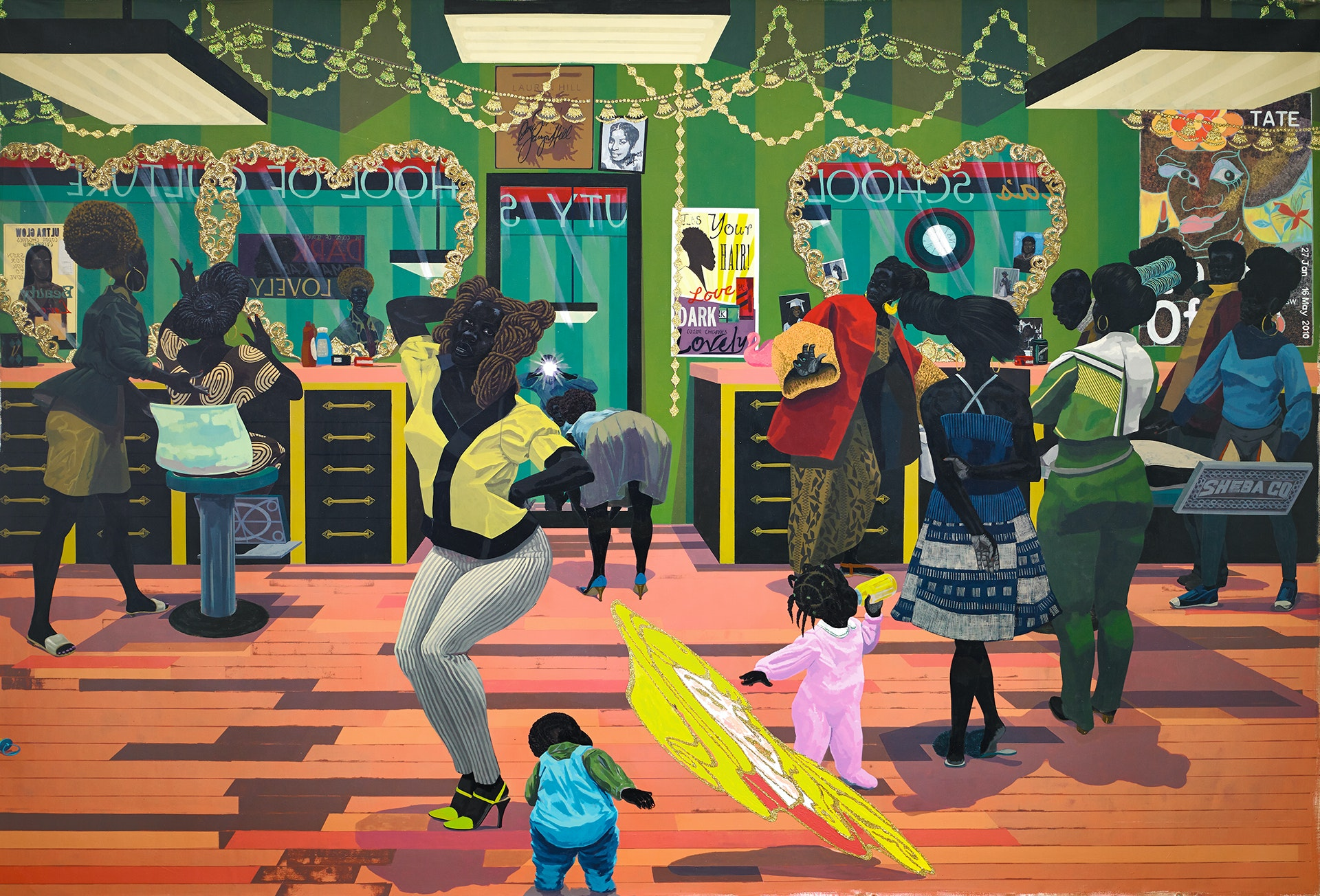 "Kerry James Marshall, ""School of Beauty, School of Culture"" (2018)"