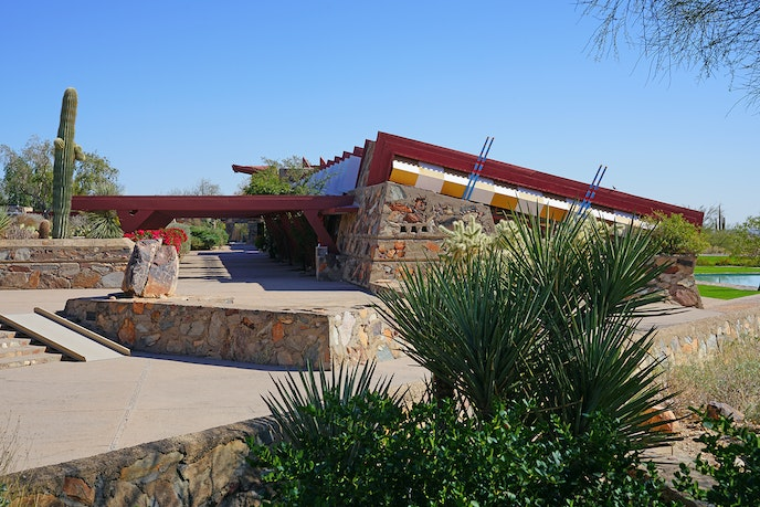 Taliesin West was Wright's winter home and where he designed many of his later buildings.