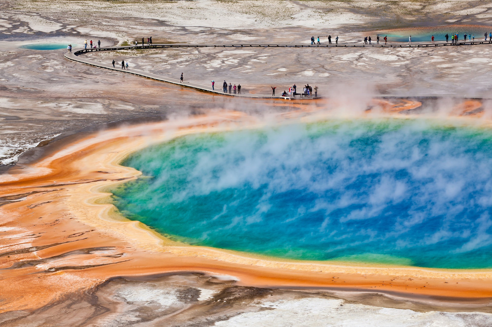 Yellowstone's Grand Prismatic Spring is the largest hot spring in the United States and the third largest in the world.