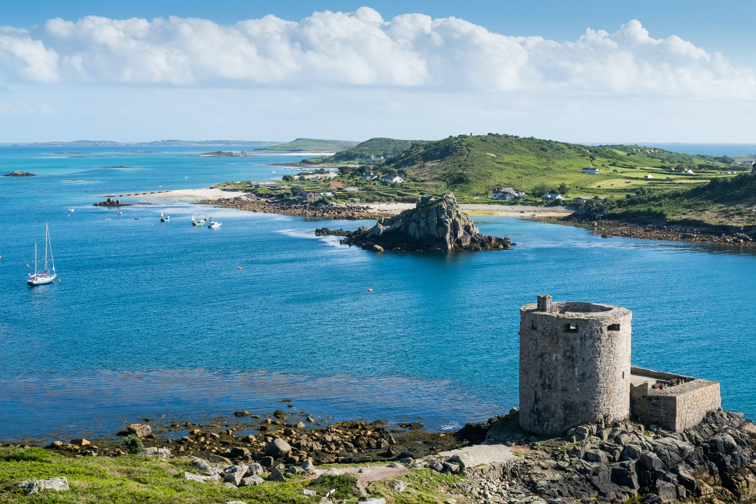Crumbling castles and white-sand beaches are among the highlights on the islands.