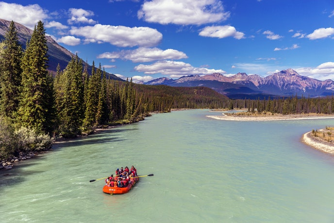 A rafting trip in the silty runoff from winter's snow is a summer highlight.