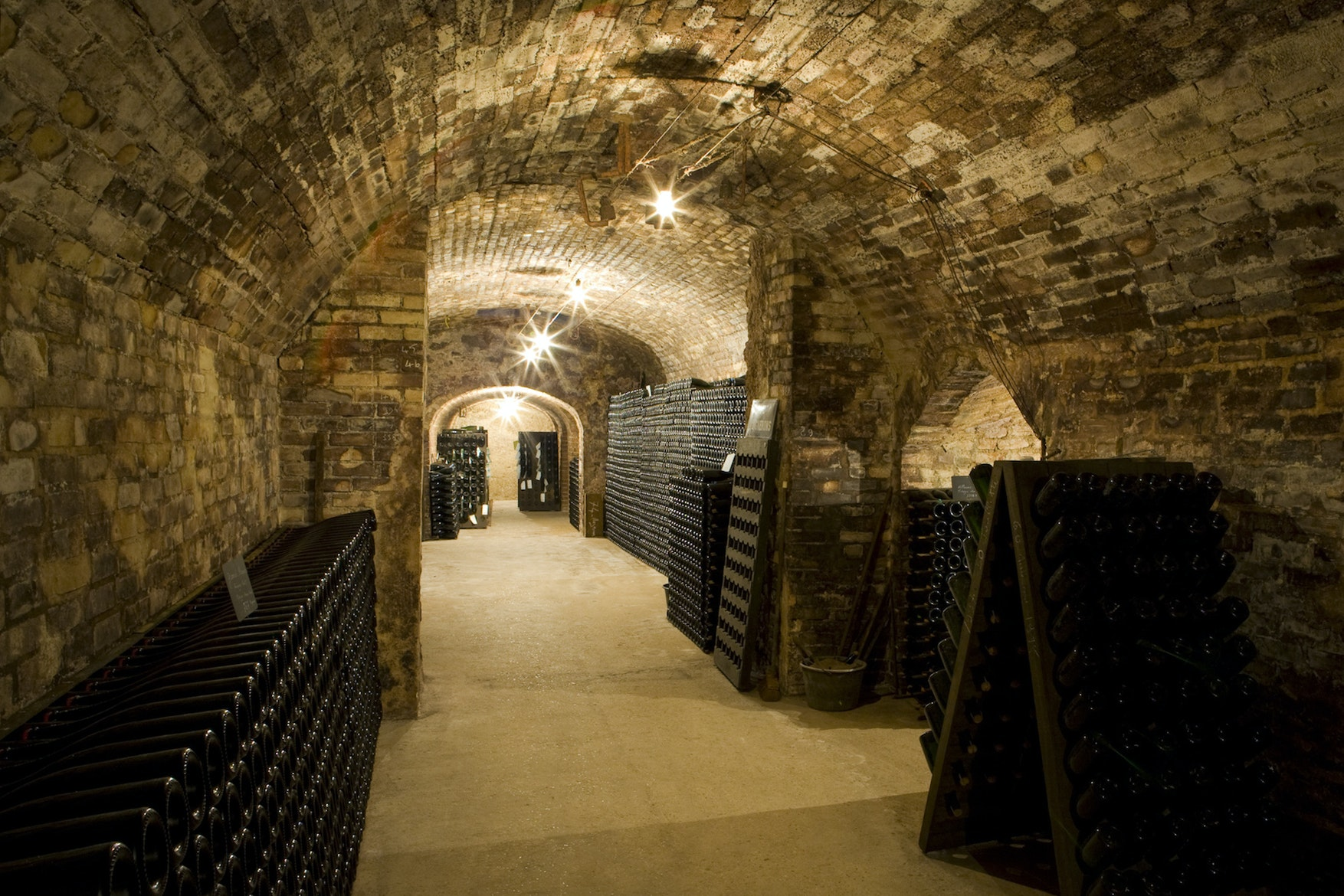 In Épernay, underground champagne cellars provided shelter for local people during World War I and II.