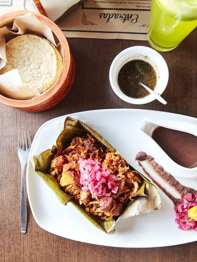 Cochinita pibil can be found in casual places, as well as high-end restaurants such as Manjar Blanco.