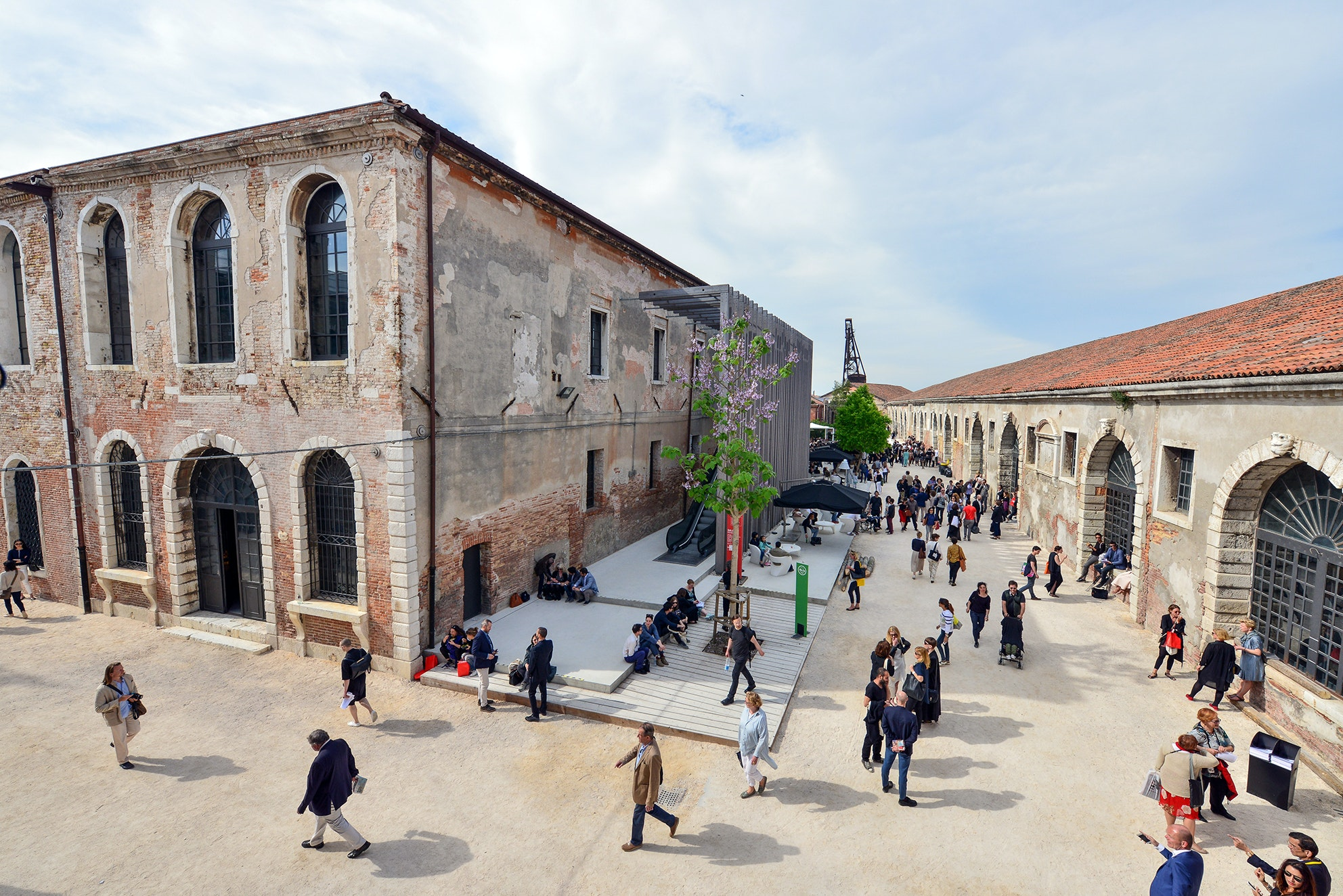 The Arsenale, one of two main sites at the Venice Biennale