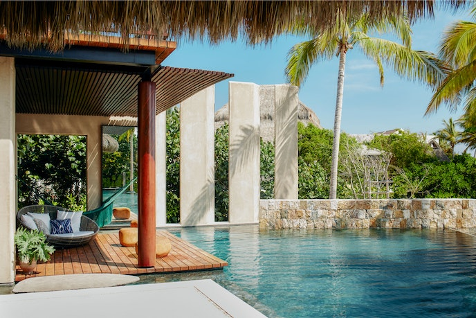 Casa Koko, in Mexico, has its own private pool and hot tub.