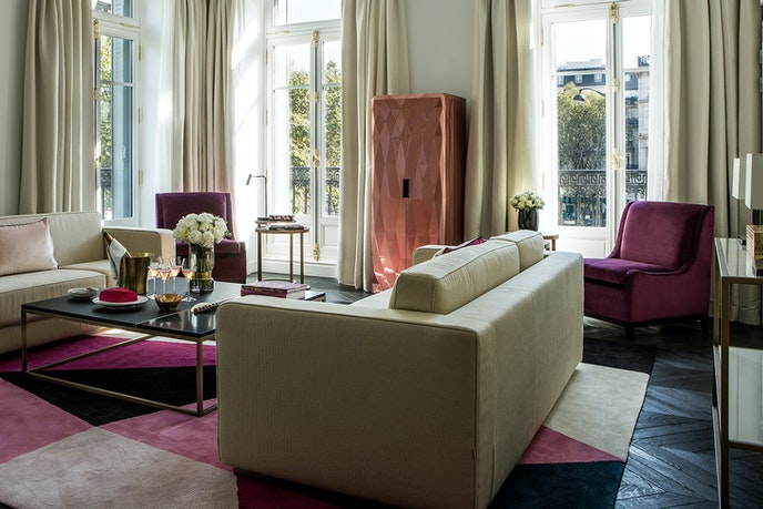 A suite at the newly-opened Fauchon L'Hotel