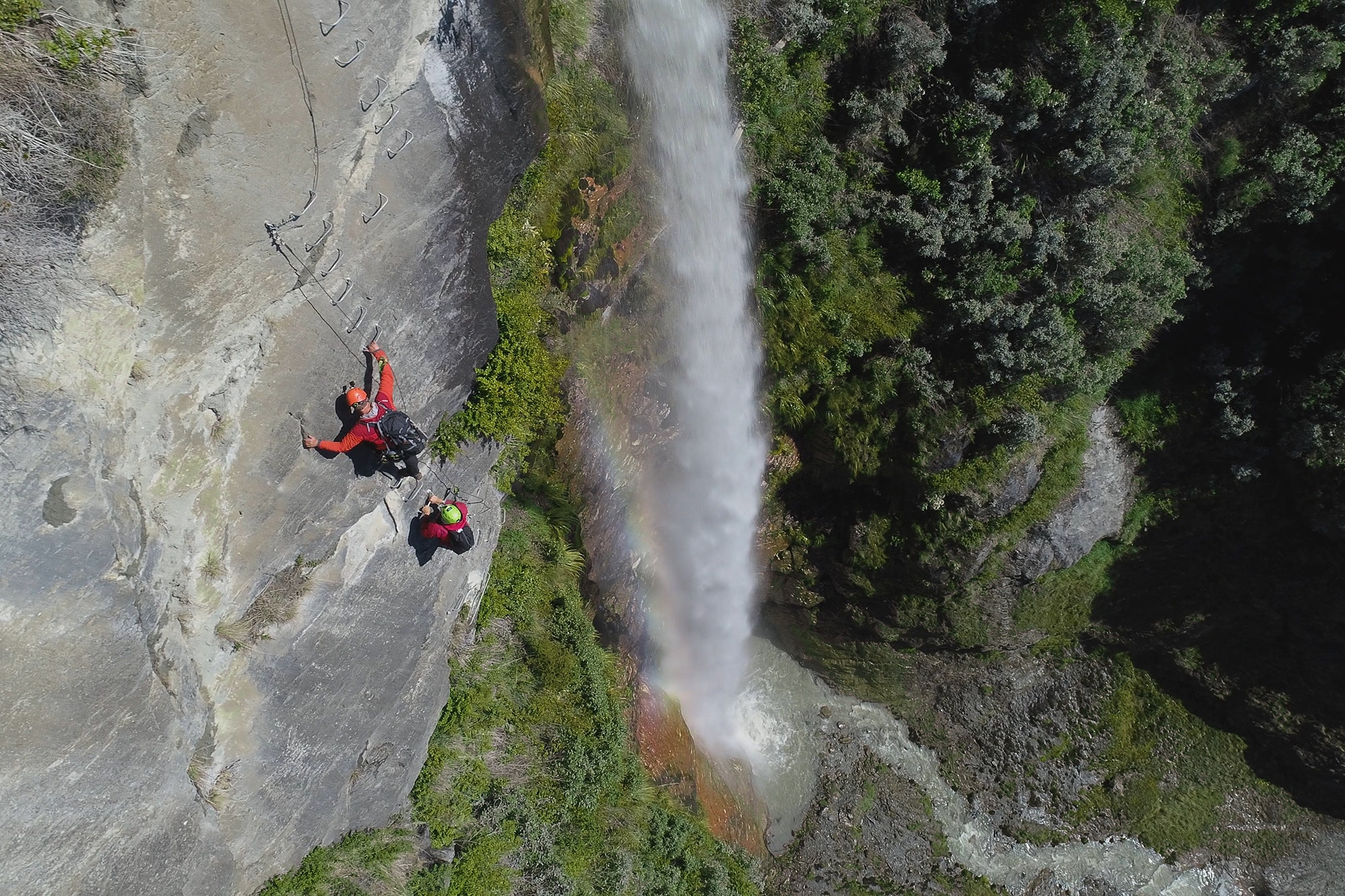 Wildwire Wanaka is the world's highest waterfall via ferrata.