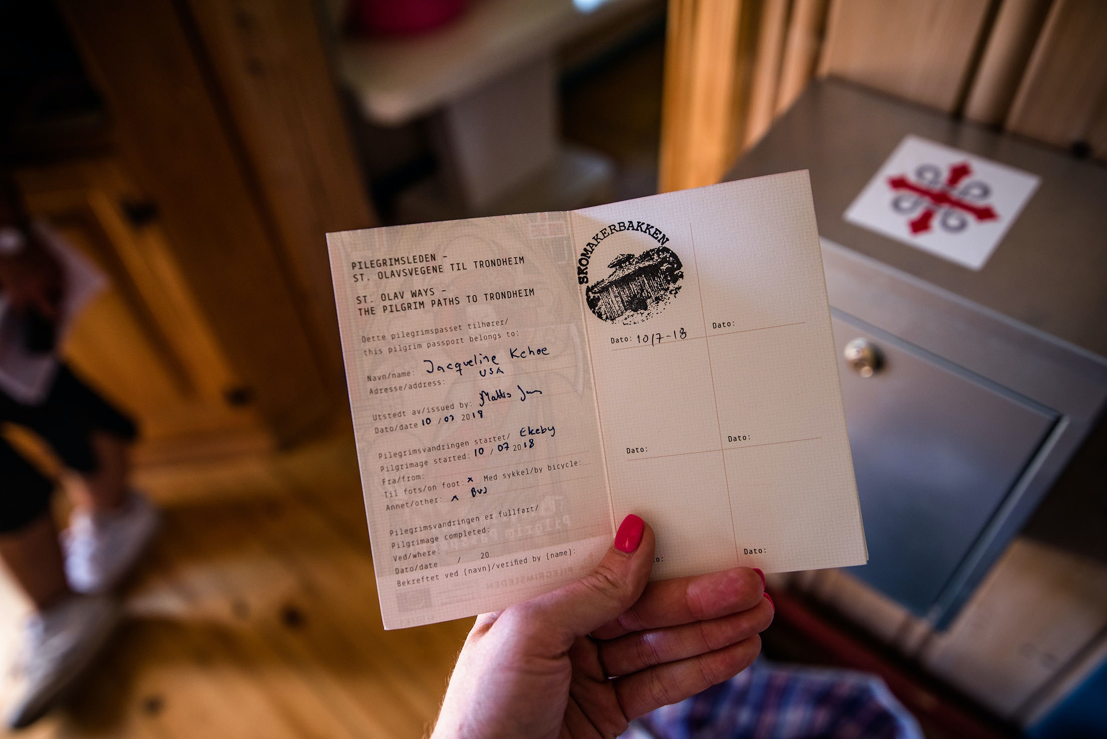 Registered trekkers receive a passport in which to document their progress.