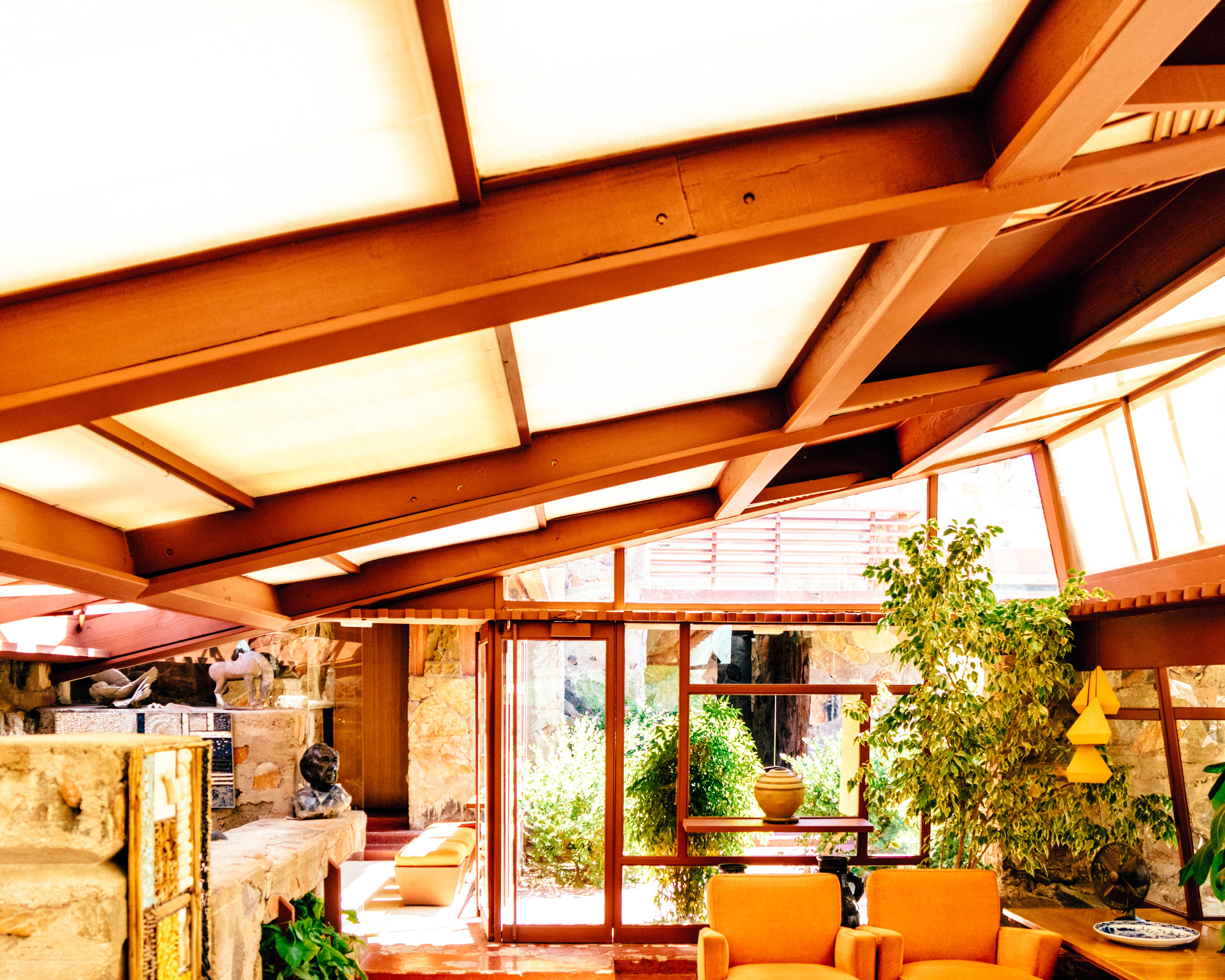 Wright's former living quarters at Taliesin West.