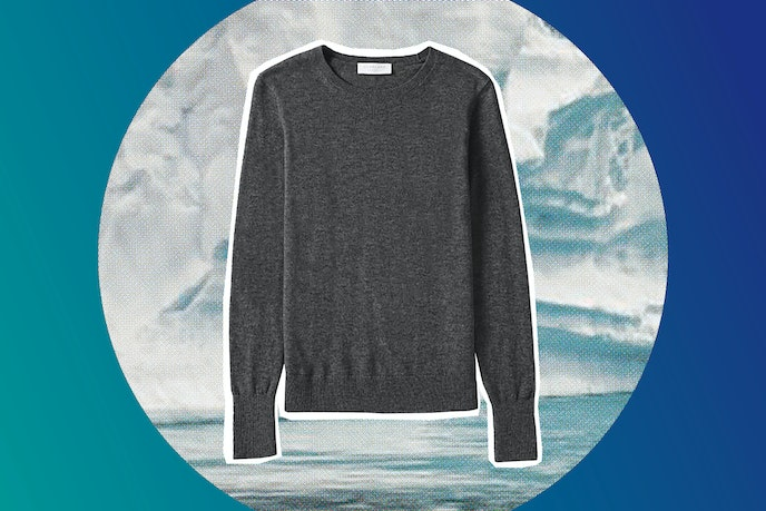 Everlane's cotton or cashmere sweaters can be dressed up for dinner or simply worn while lounging around.