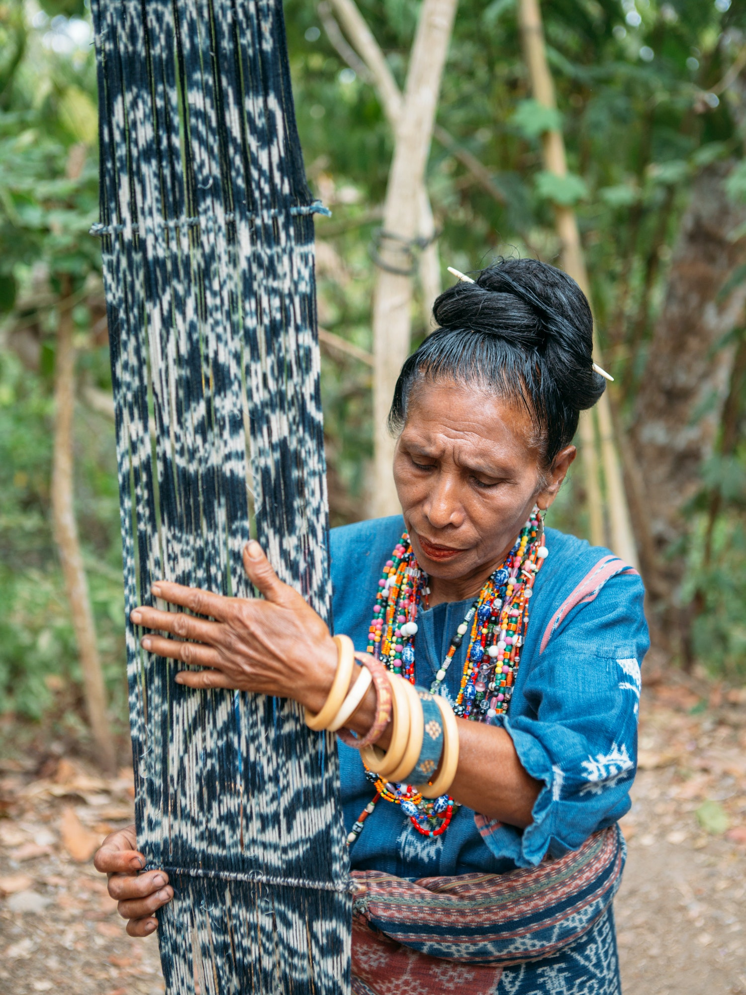 Flores, one of Indonesia's remote Lesser Sunda Islands, is famous for its fine ikat weaving.