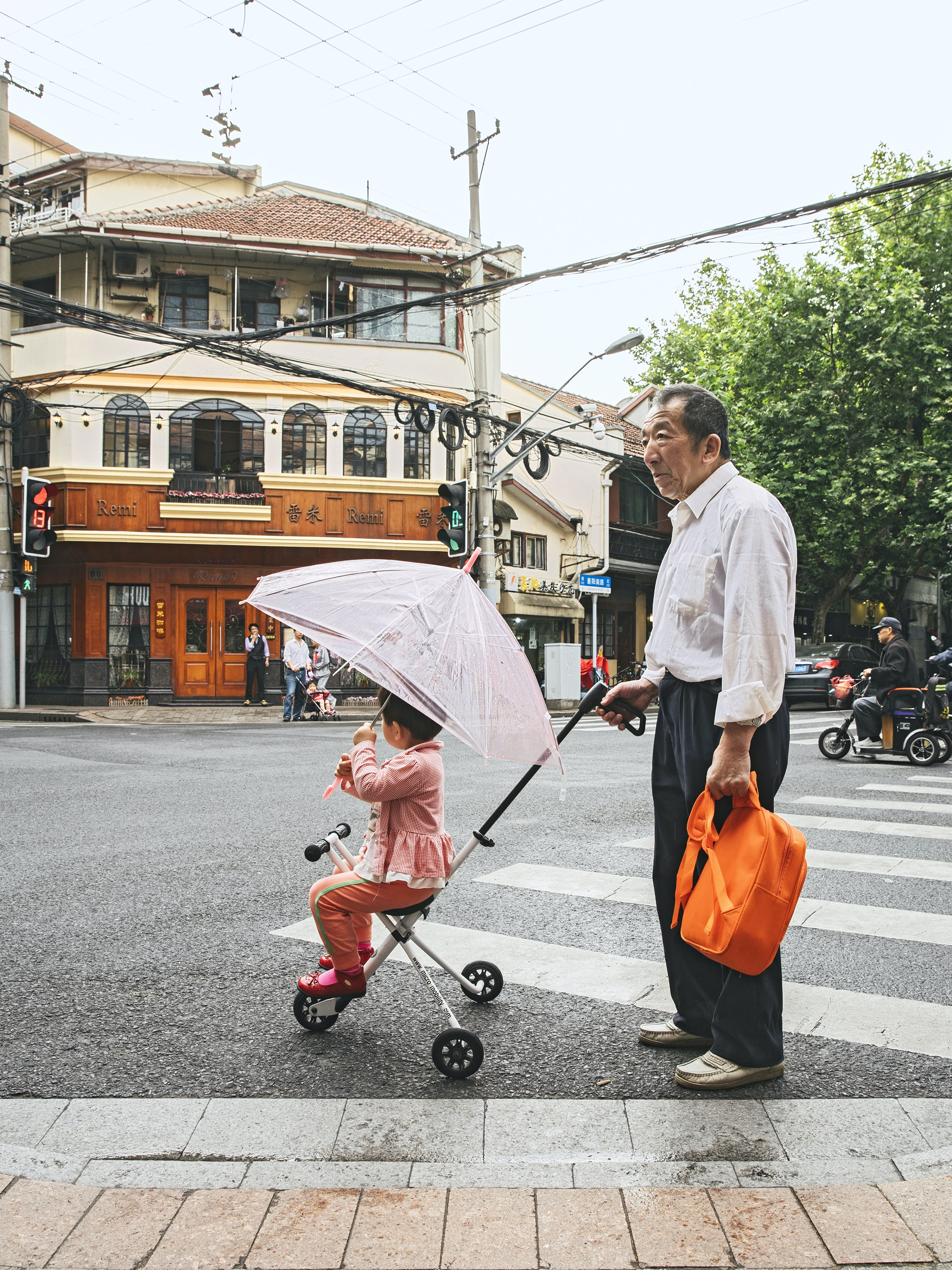 Residents and retailers find a home in Jing'an, a business district in central Shanghai.