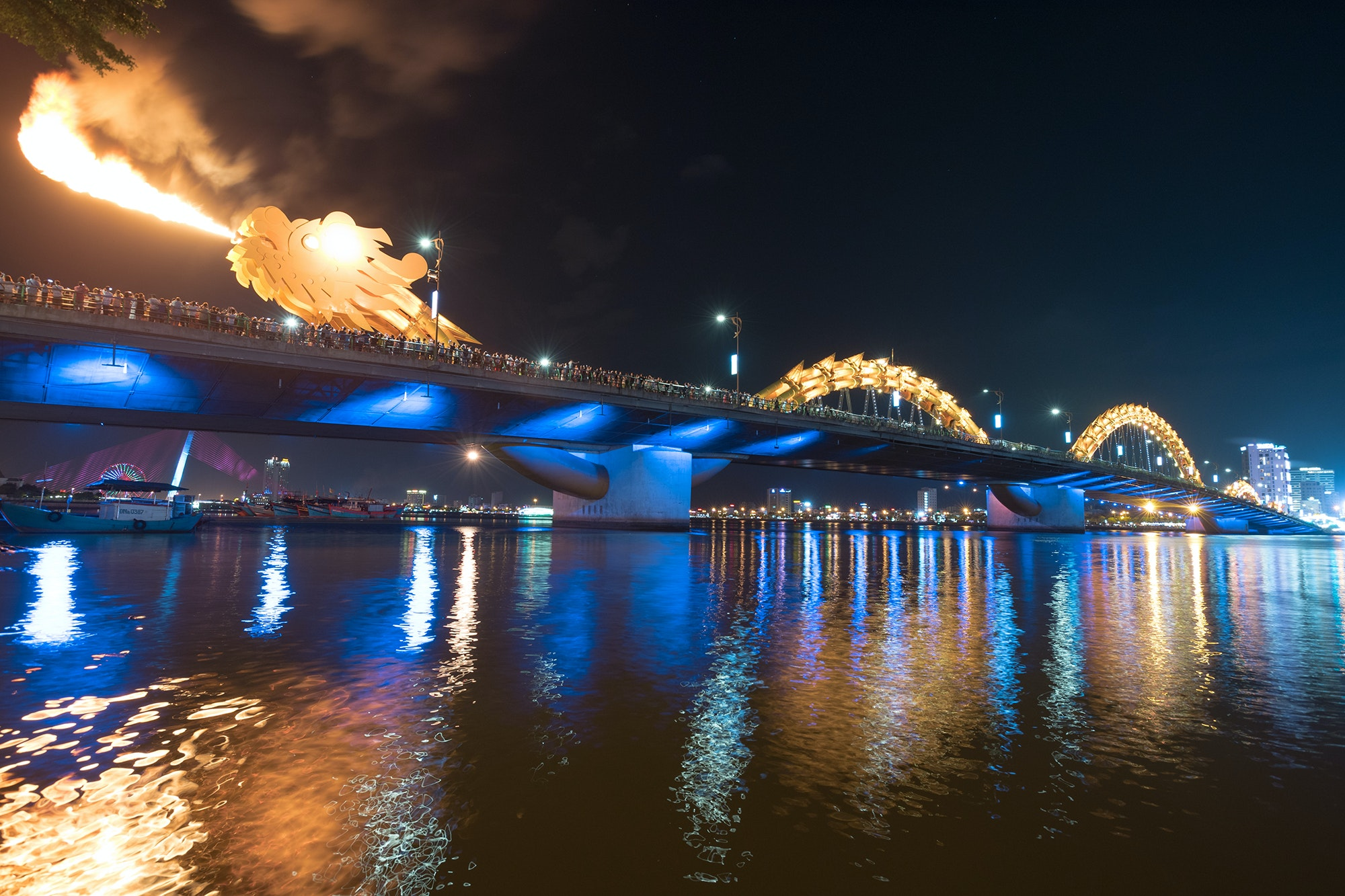 The Dragon Bridge in nearby Da Nang